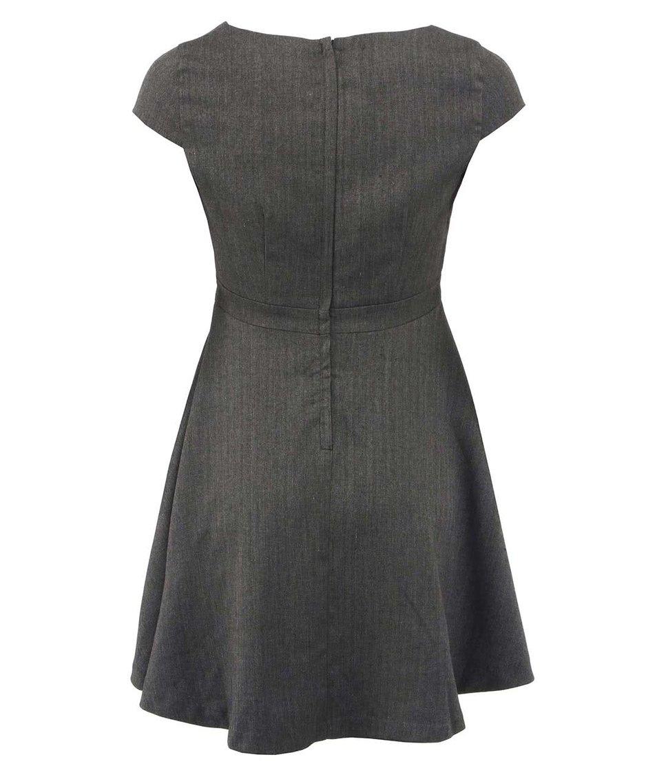 Šedé elegantní šaty Fever London Canary