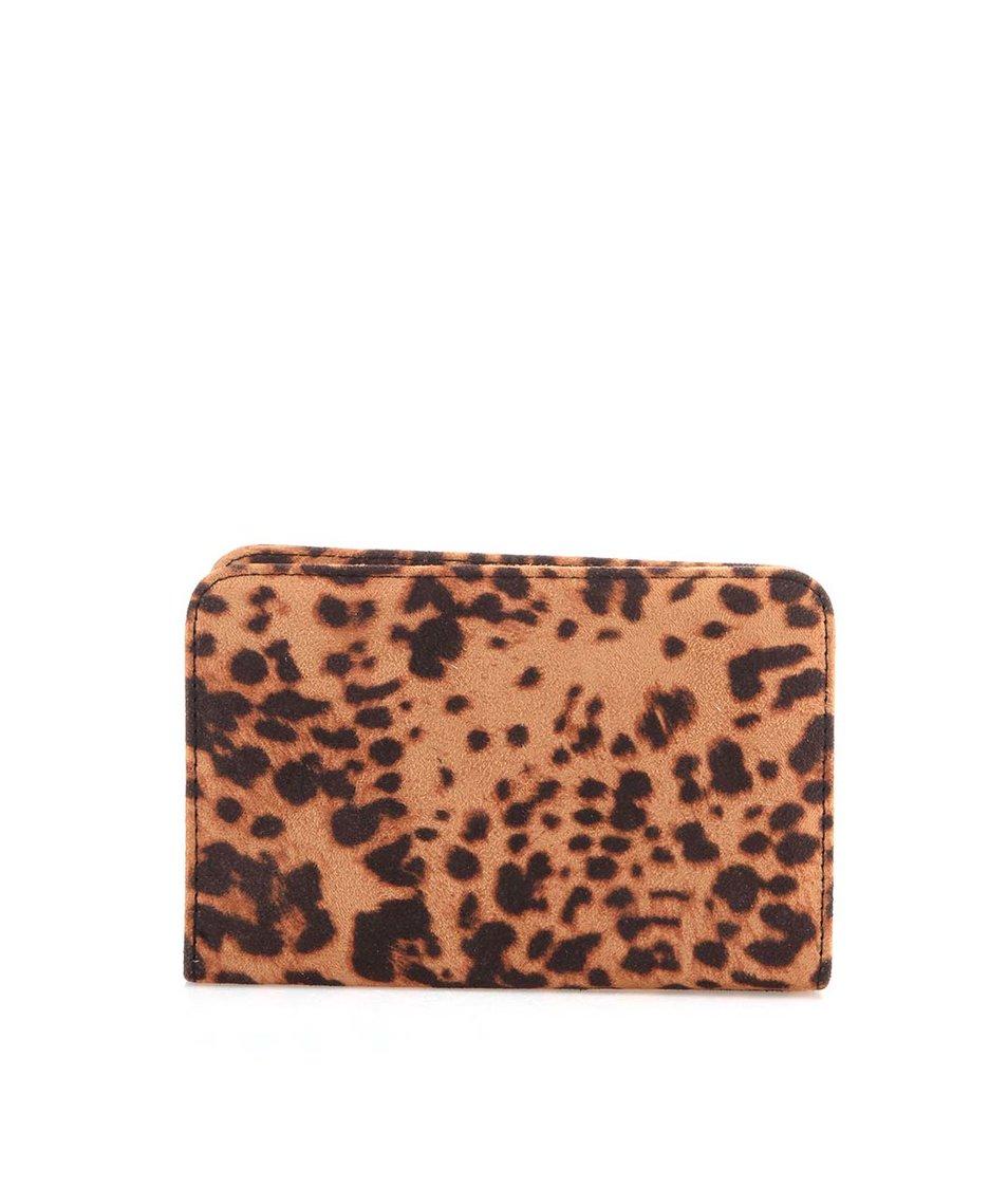 Hnědé psaníčko s leopardím vzorem Pieces Kleo