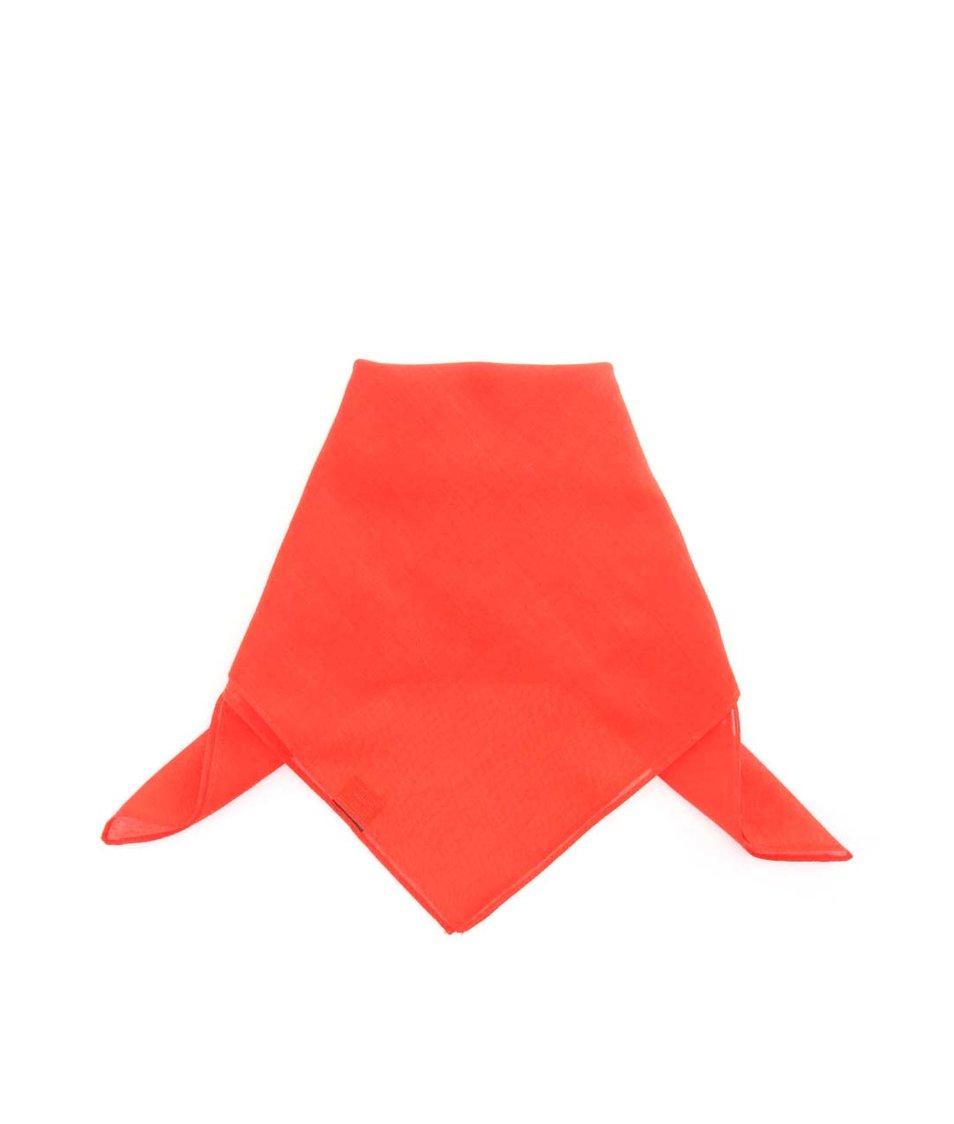 Červený pánský bavlněný šátek Portia