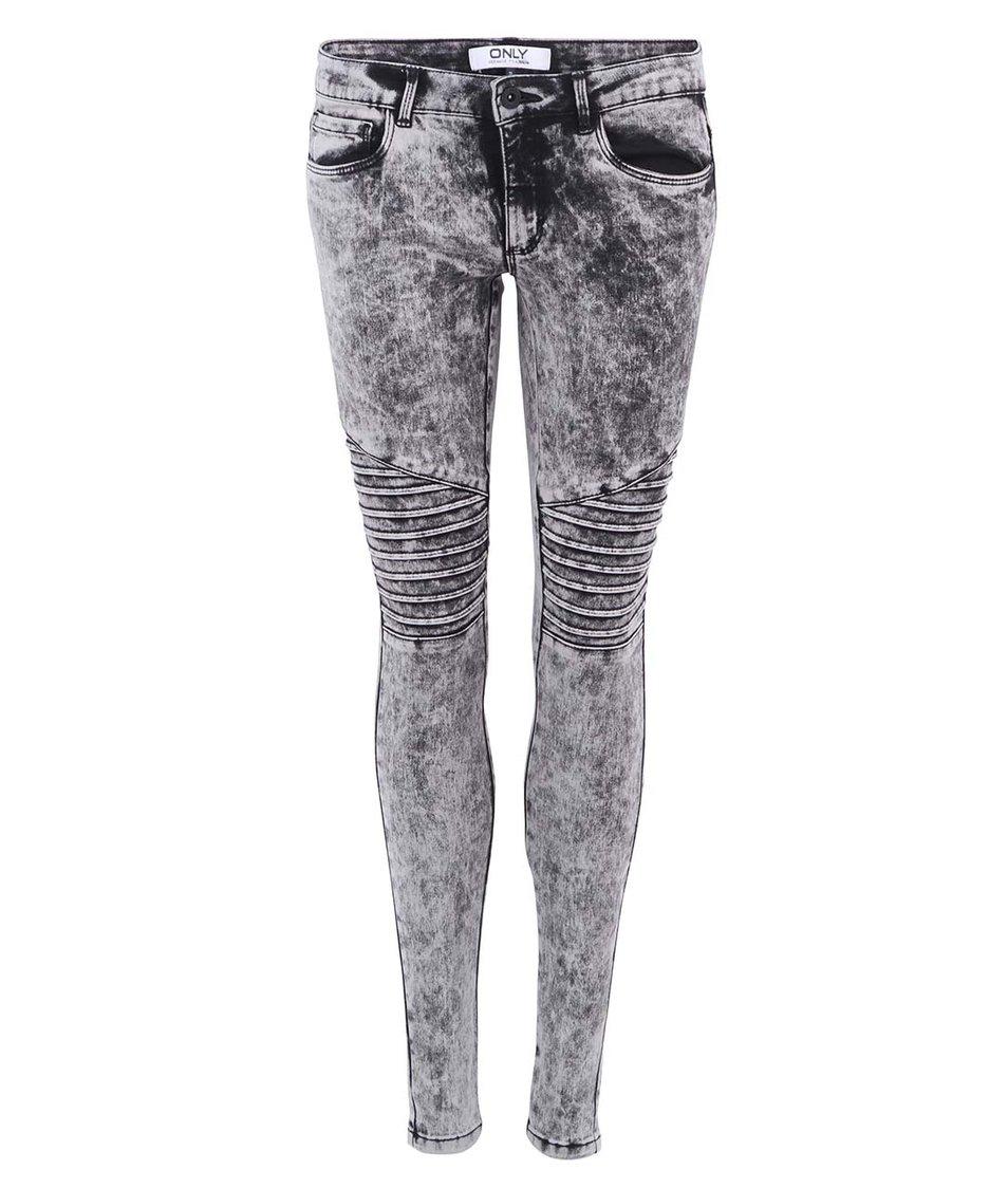 Šedé plísňové skinny džíny ONLY Royal