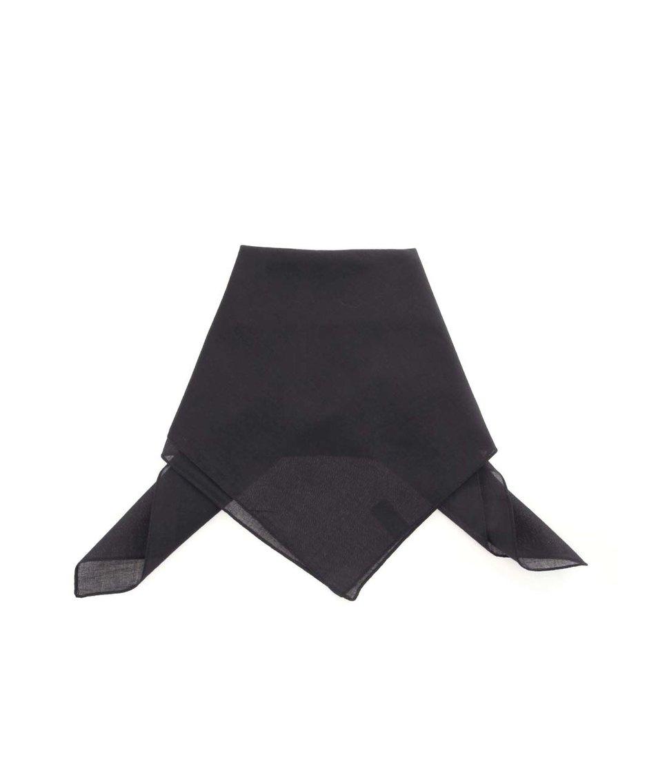 Černý pánský bavlněný šátek Portia