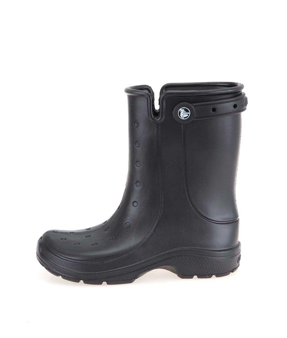 Černé dámské vyšší boty Crocs Renny 2