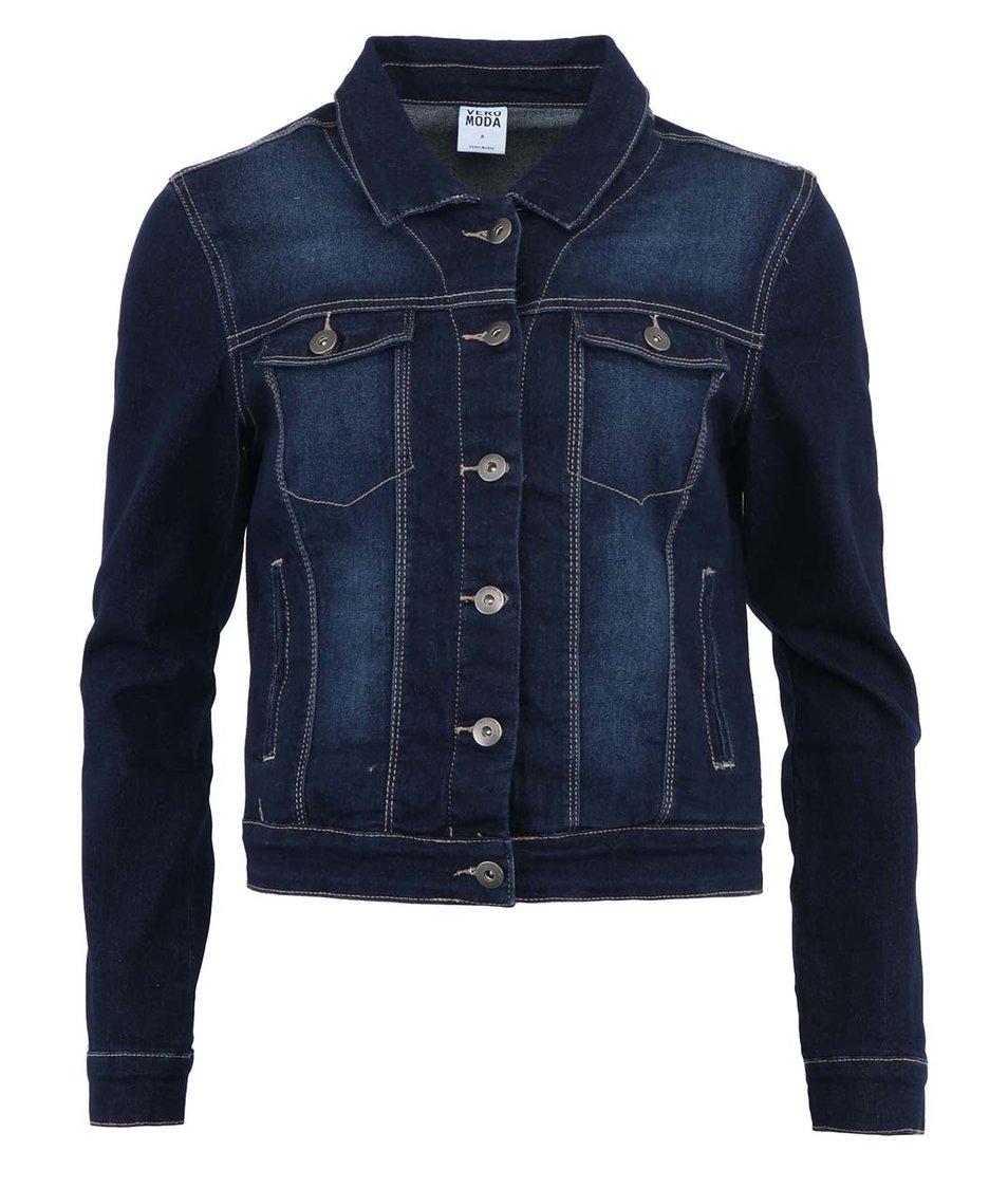 Tmavě modrá dámská džínová bunda Vero Moda New Soya