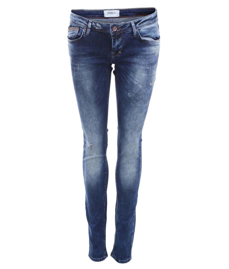Modré slim džíny Vero Moda Flashy