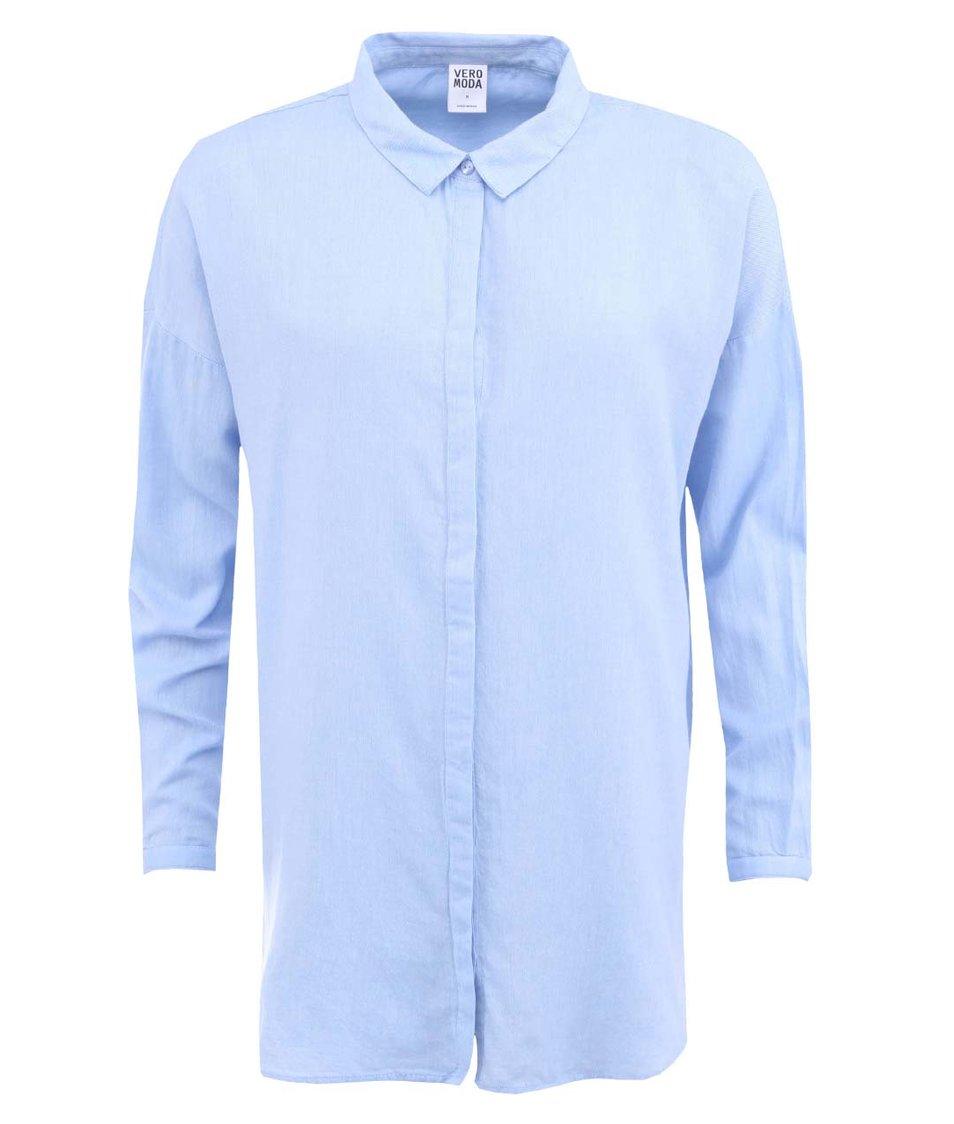 Modrá delší košile Vero Moda Jester