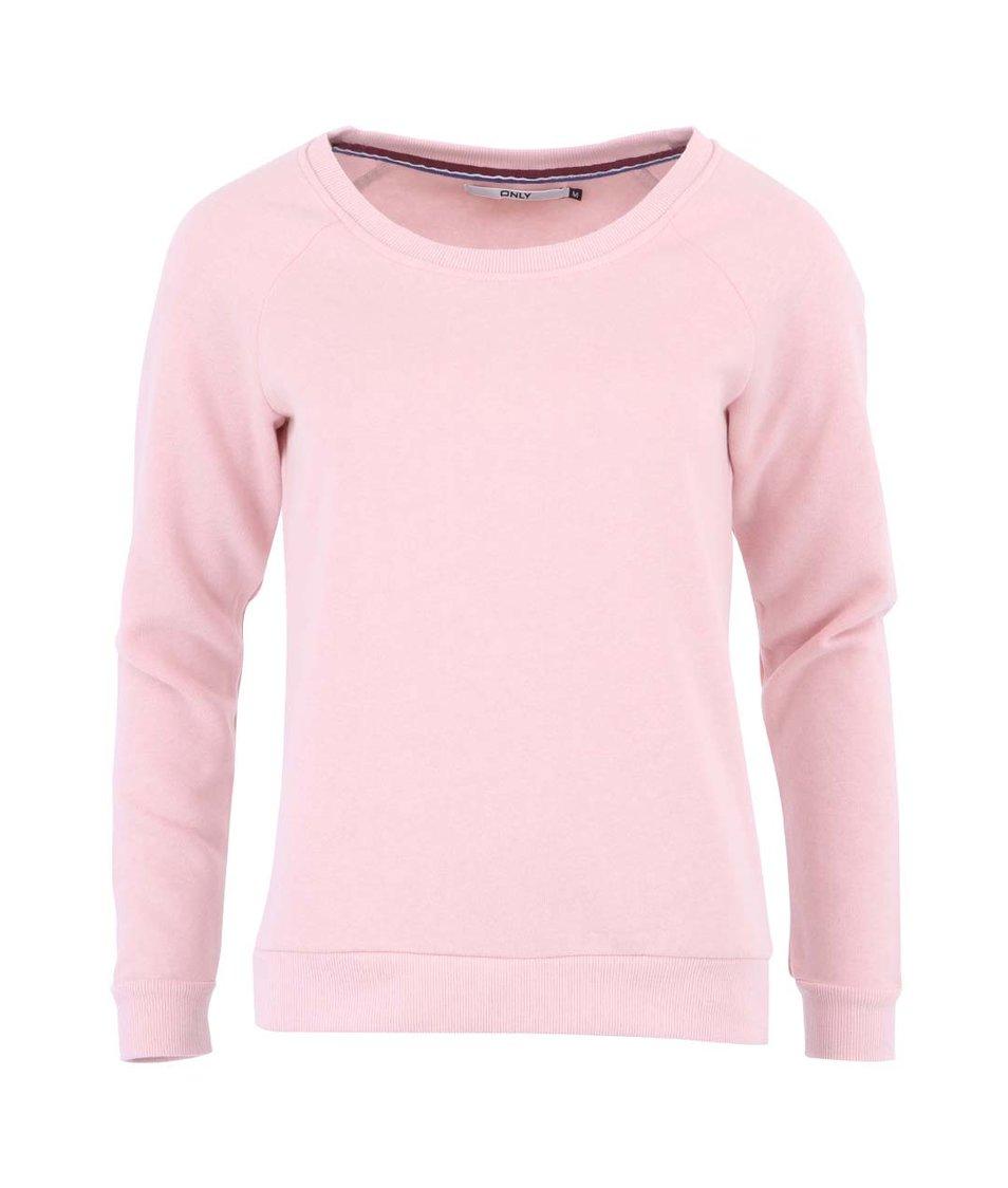 Světle růžová mikina ONLY Finley