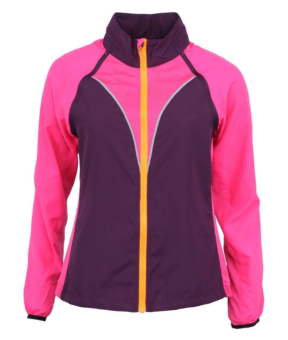 Růžovo-fialová lehká sportovní bunda/vesta Only Play Belle