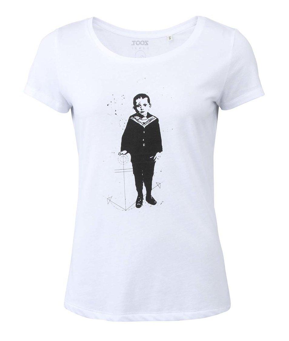 f284e1f5e98a Bílé dámské tričko ZOOT Lokál Vian s Little Sailor