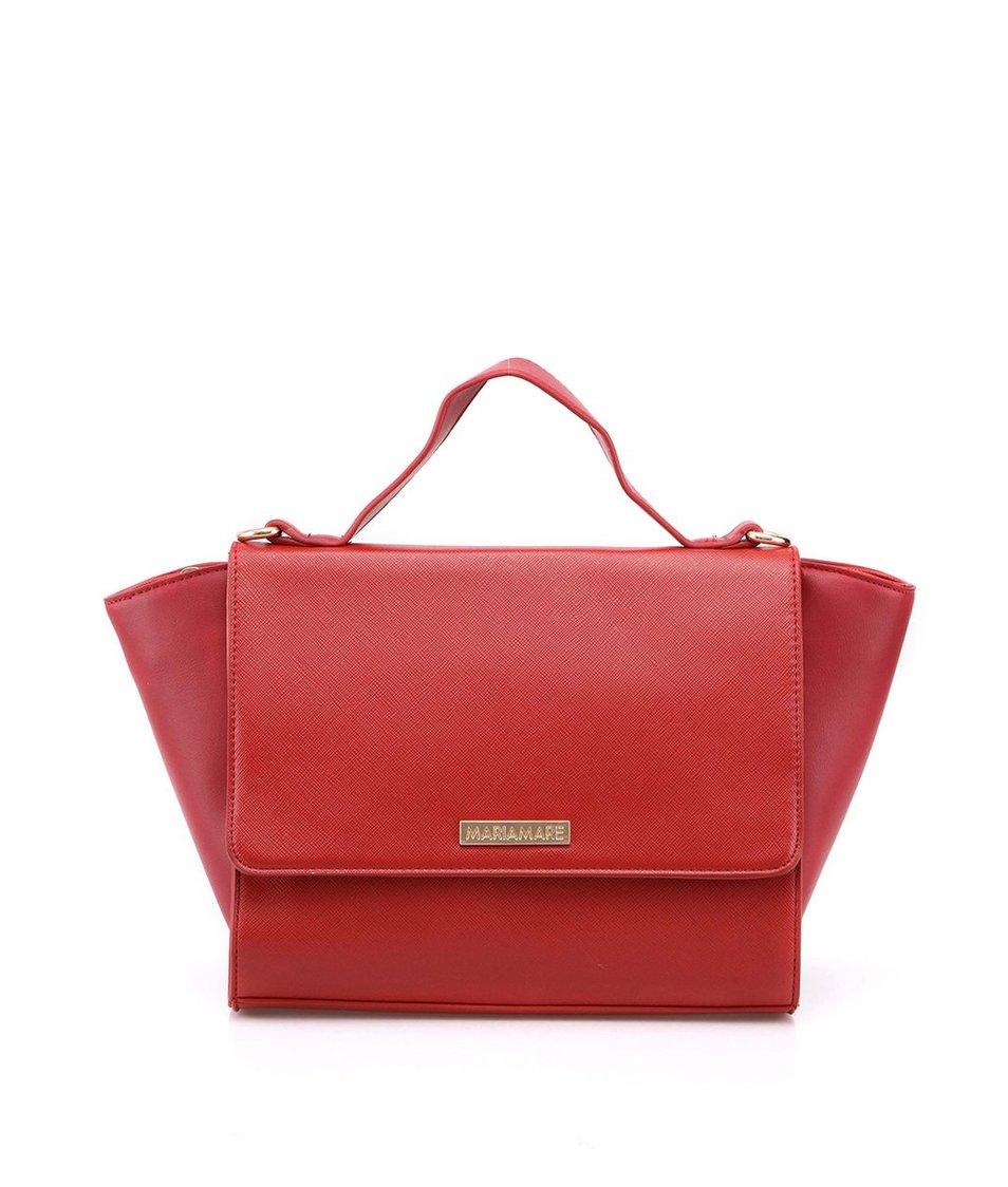 Červená pevná kabelka Mariamare Milena