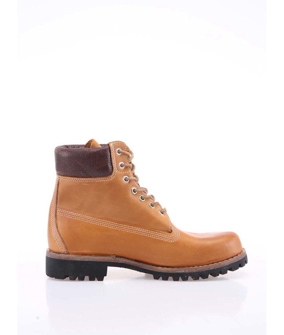 1542bbf3268 Hnědé pánské kožené nepromokavé boty Timberland Heritage Hnědé pánské kožené  nepromokavé boty Timberland Heritage ...