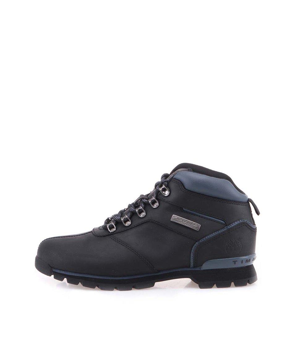 Černé pánské kožené trekové boty Timberland Spiltrock 2