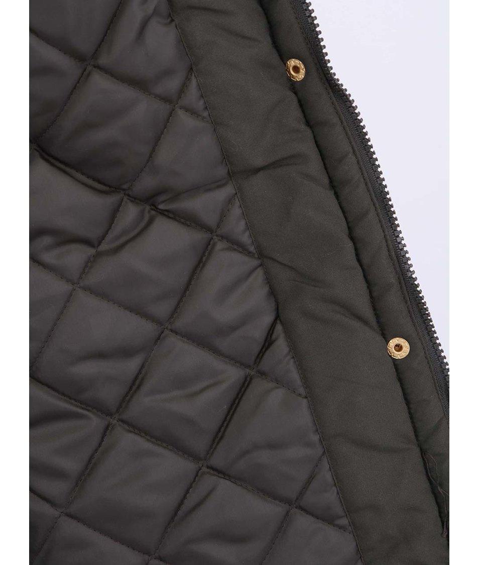 Khaki parka s kapucí lemovanou kožíškem Vero Moda