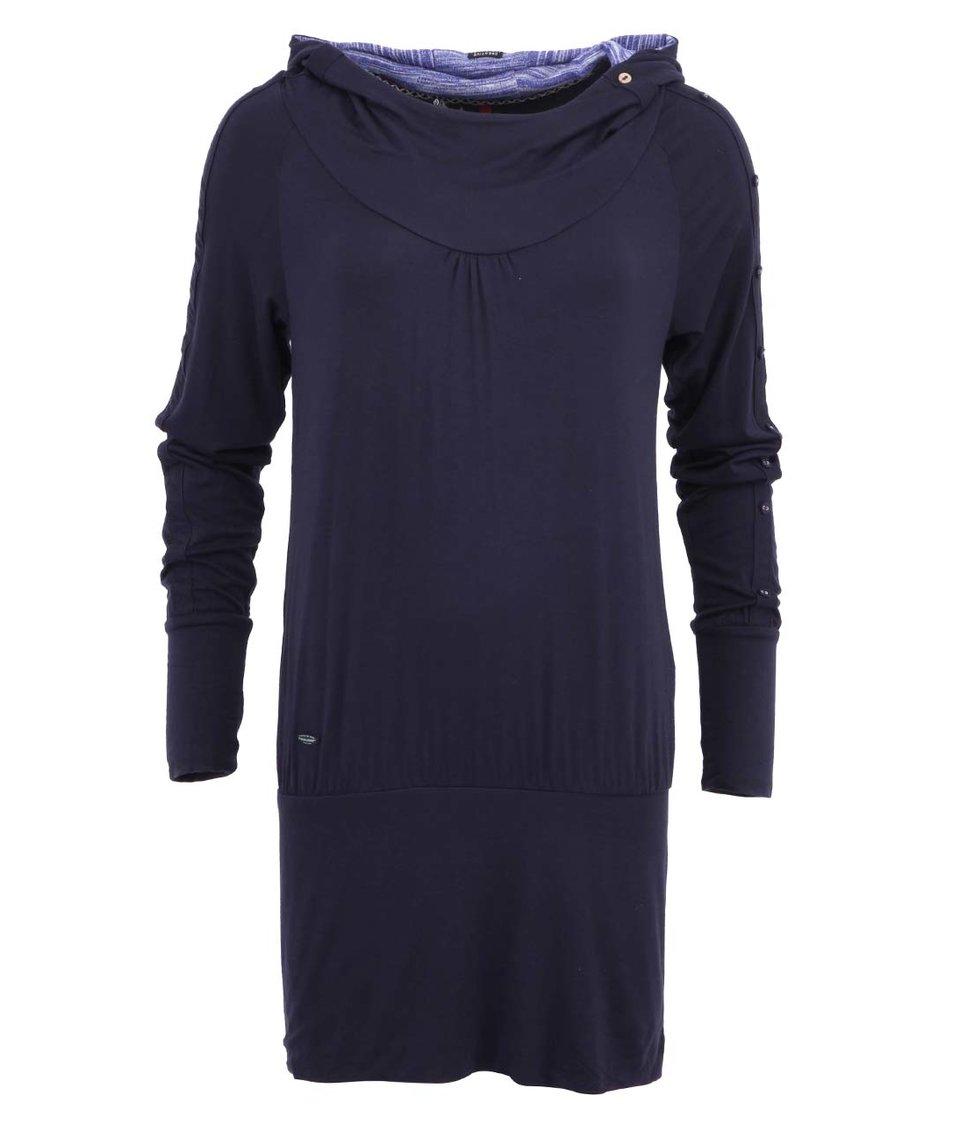 Tmavě modré dámské šaty s knoflíky na rukávech Ragwear Iconic