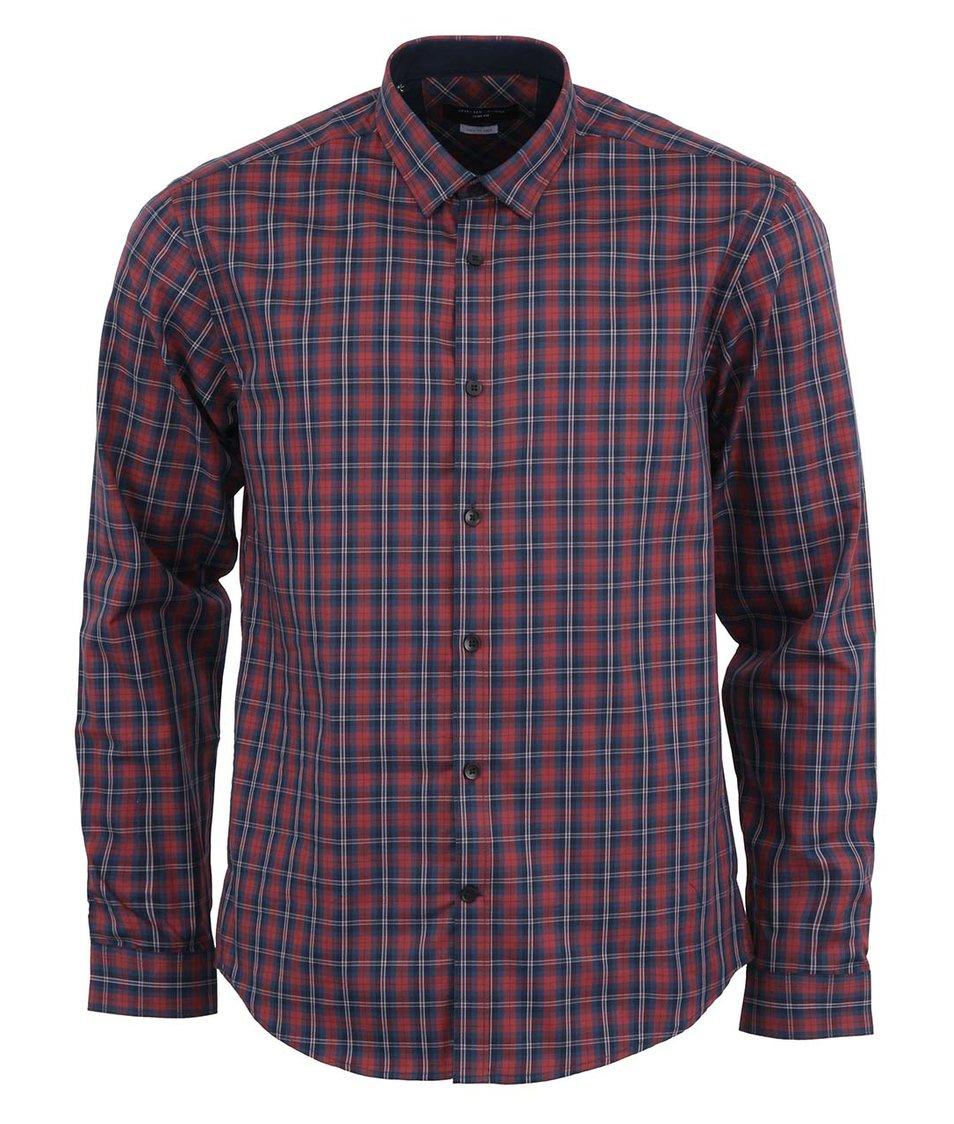 Červeno-modrá kostkovaná košile Selected One Allan Slim Fit