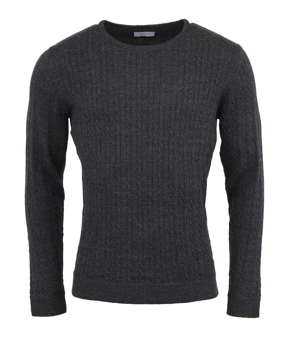 Tmavě šedý svetr Selected Clayton
