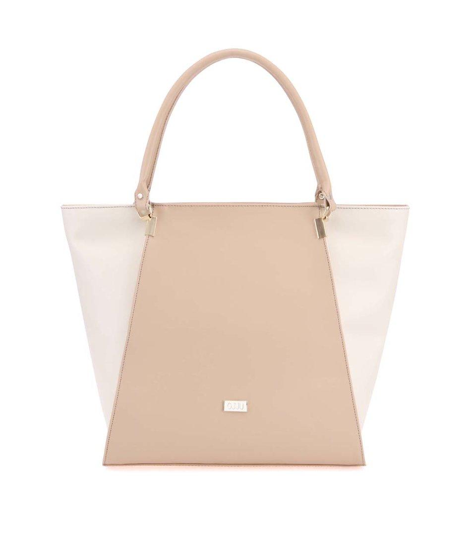 Béžovo-krémová kabelka OJJU