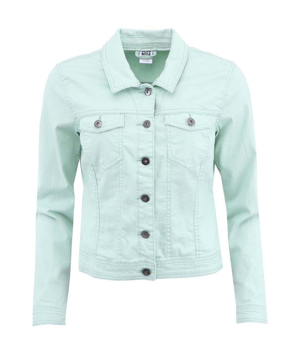 Zelenkavá krátká bunda Vero Moda Vietta