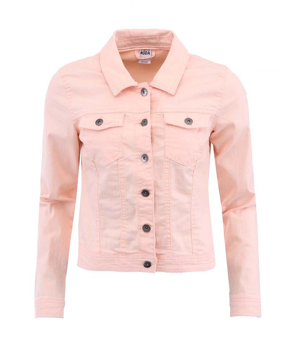 Světle oranžová krátká bunda Vero Moda Vietta