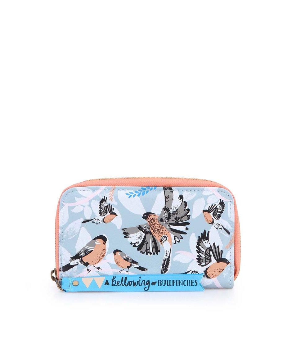Modrá peněženka Disaster Bullfinch
