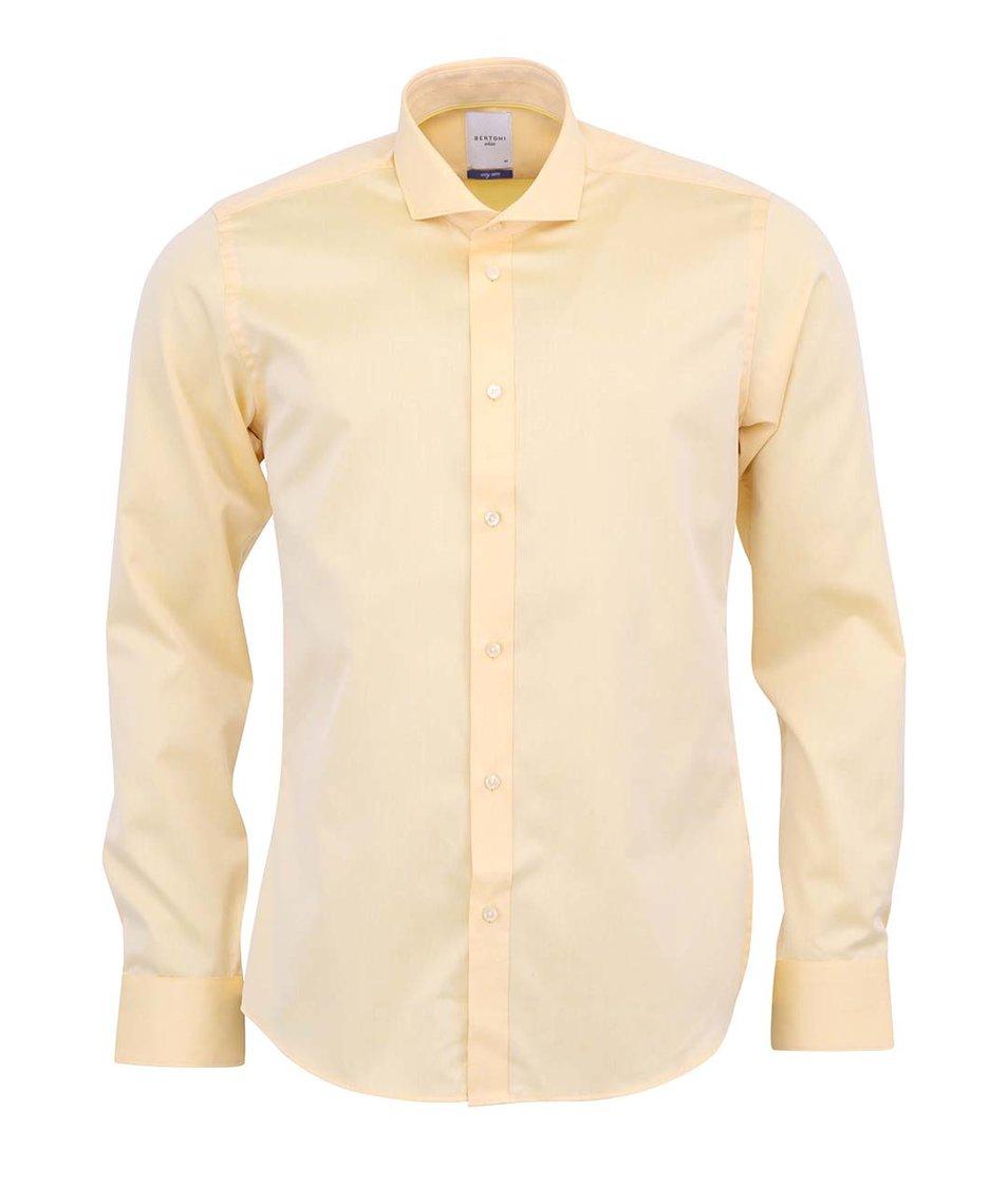 Žlutá košile Bertoni Slim Fit