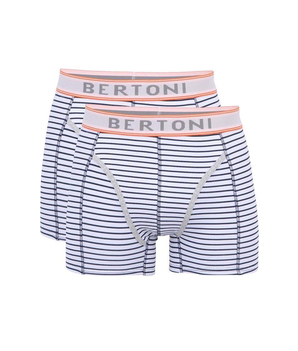 Set dvou modro-bílých boxerek Bertoni