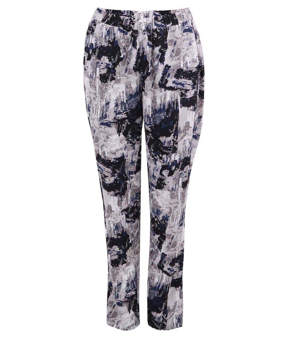 Šedo-modré volné kalhoty Vero Moda Christy