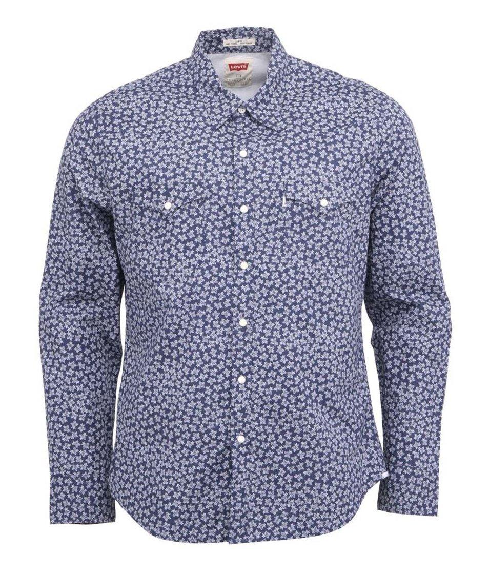 Modrá pánská košile se vzorem větviček Levi's®