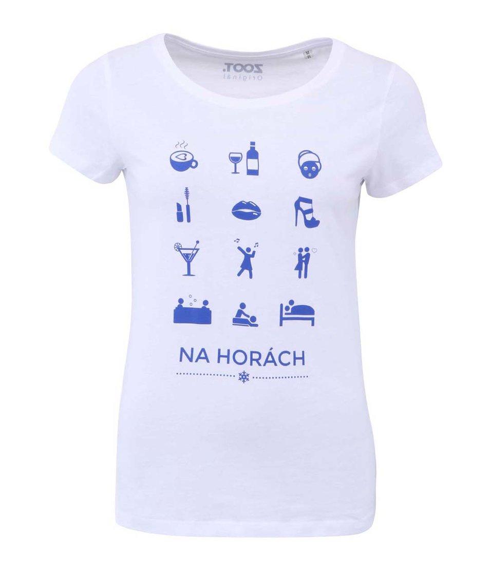 Bílé dámské tričko ZOOT Originál Zimní sporty