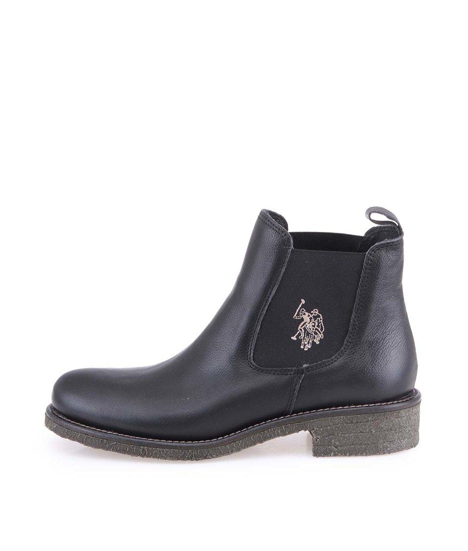 Černé dámské kožené boty U.S. Polo Assn. Faris