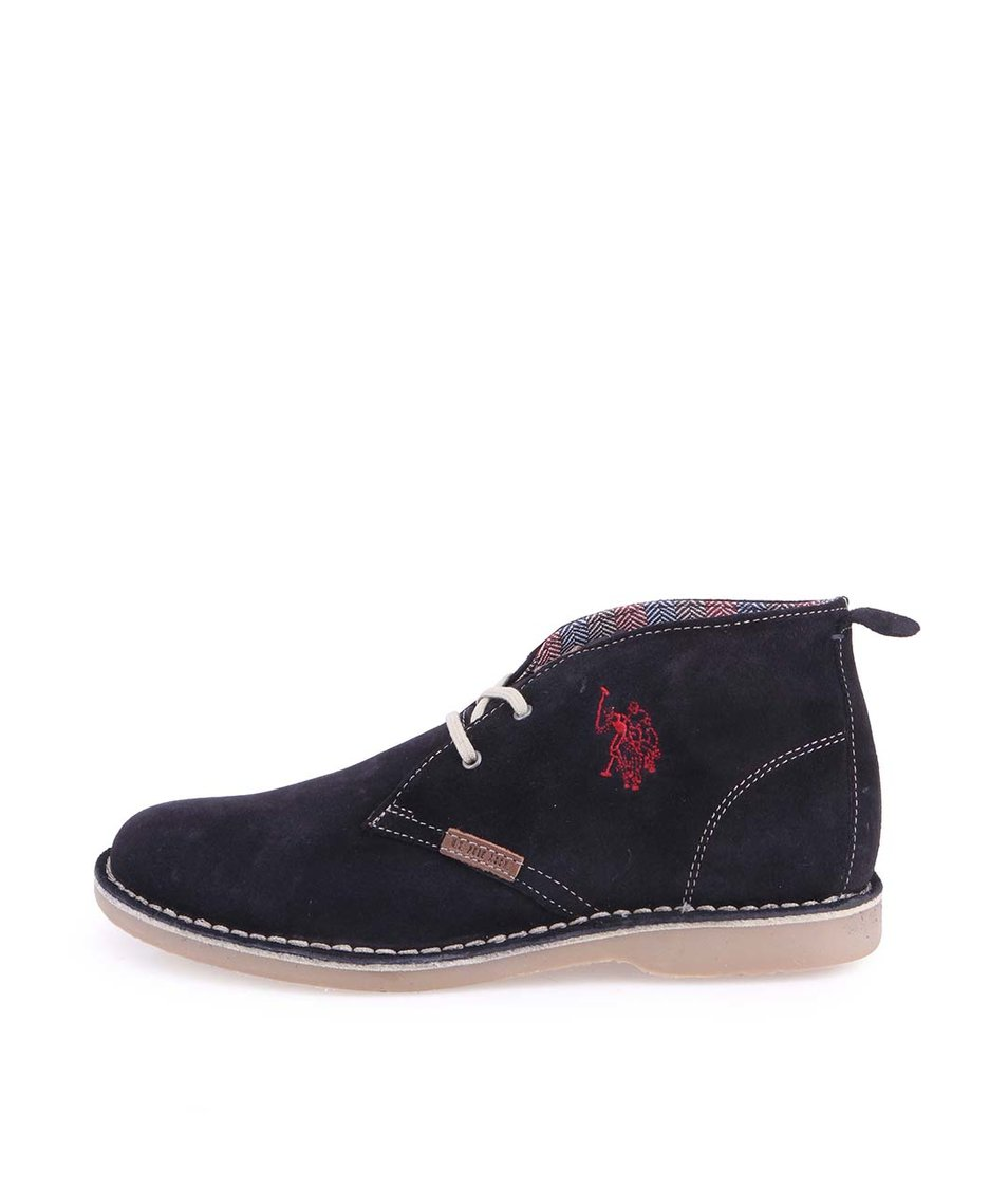 Tmavě modré dámské kožené boty U.S. Polo Assn. Glenda Suede