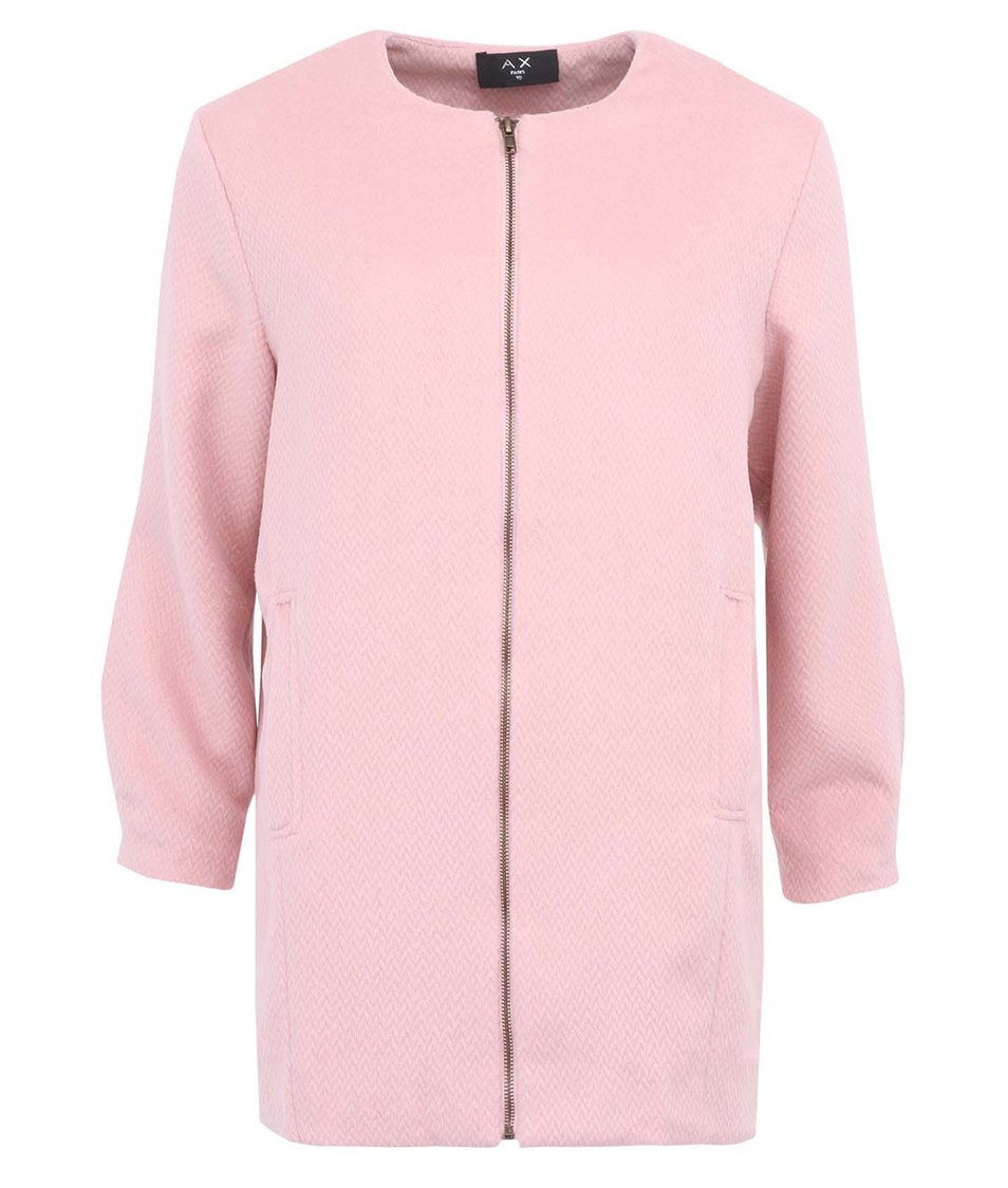 Pastelově růžový kabát AX Paris