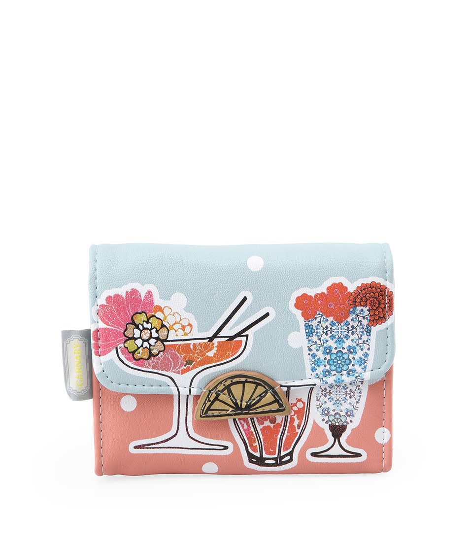 Modrá rozkládací peněženka s koktejly Disaster Carnaby