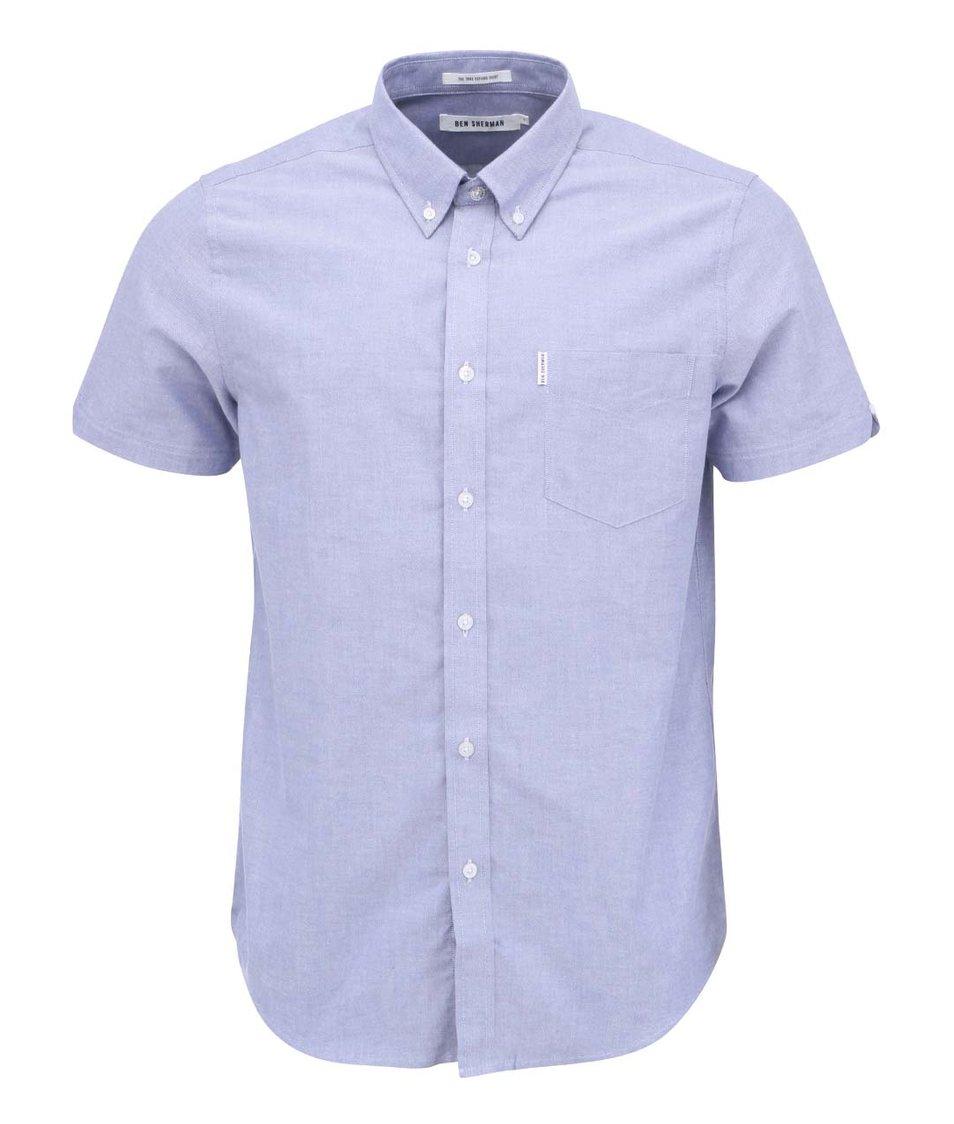 Modrá košile s krátkými rukávy Ben Sherman Oxford