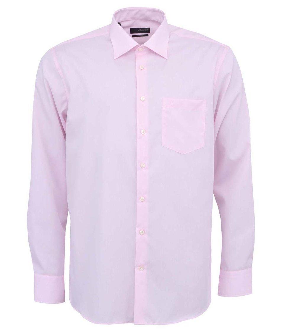 Růžová košile Seidensticker Kent Classic Patch 98 Regular Fit