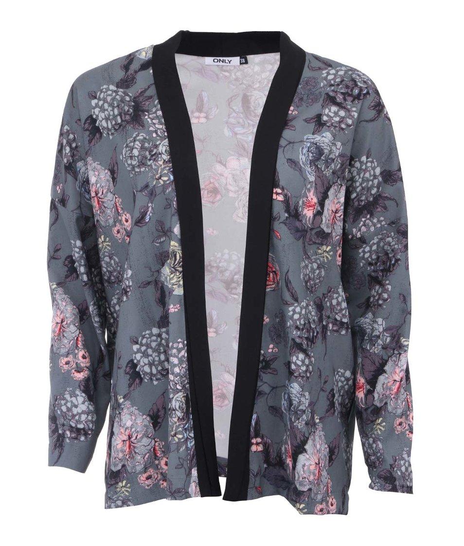 Šedozelené květované kimono ONLY Eah