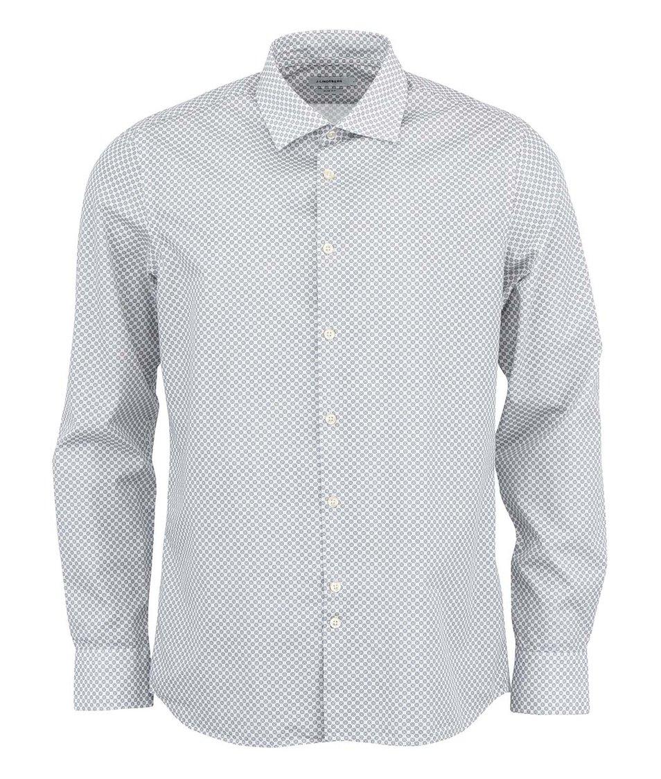 Modro-bílá vzorovaná košile J.Lindeberg Dani