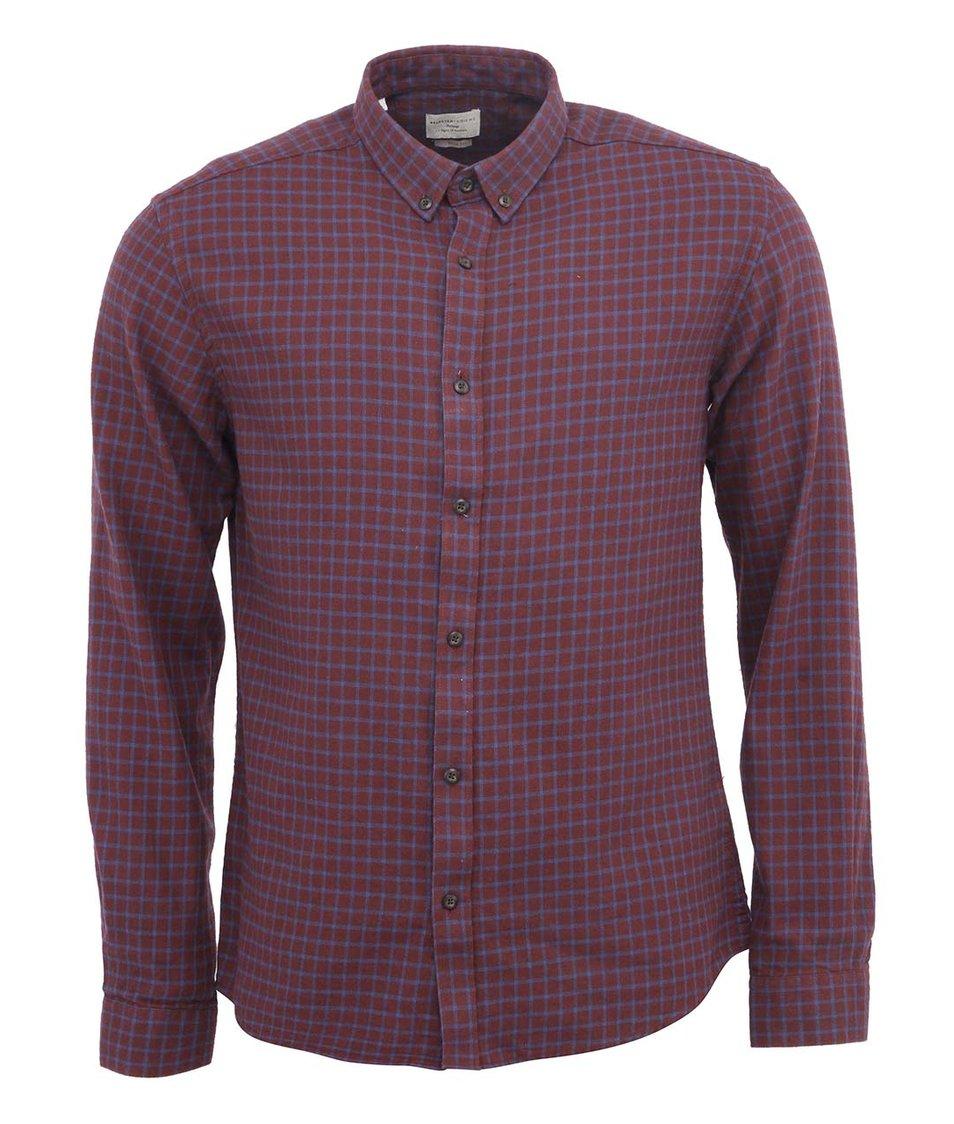 Modro-vínová kostkovaná košile Selected One Great Slim Fit