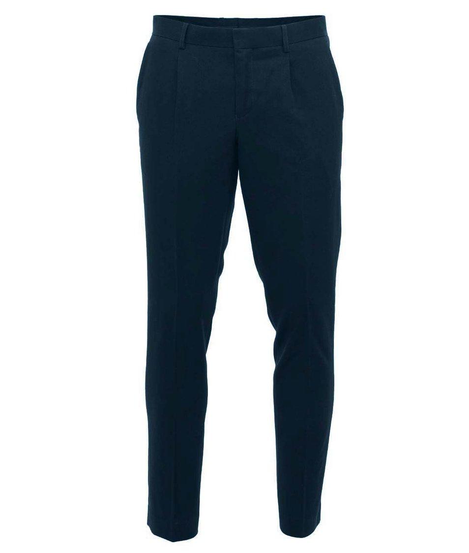 Tmavě modré kalhoty Selected Zero Structure
