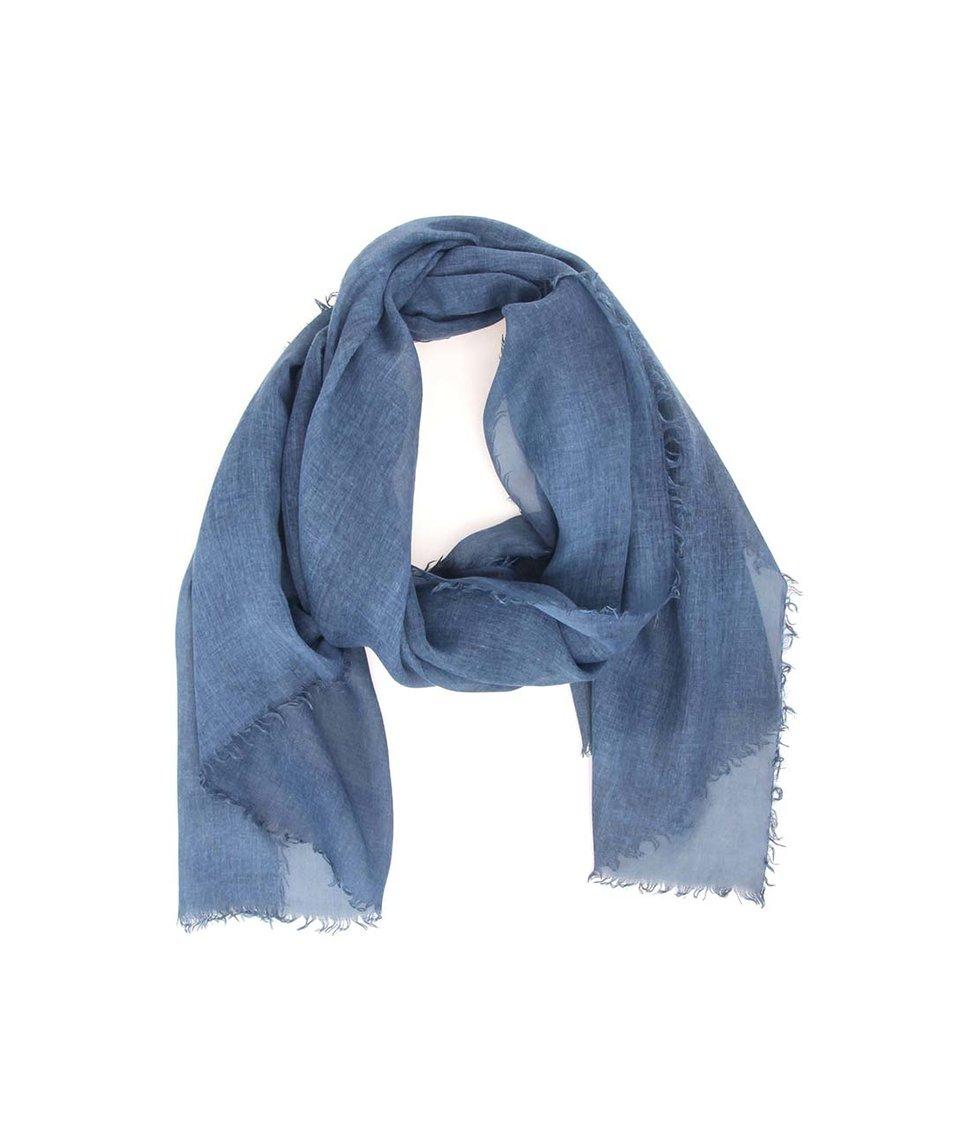 Tmavě modrý šátek Selected Curt