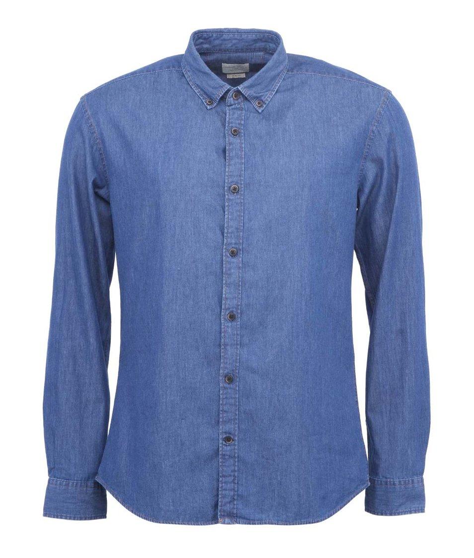 Modrá džínová košile Selected Gingham Slim Fit