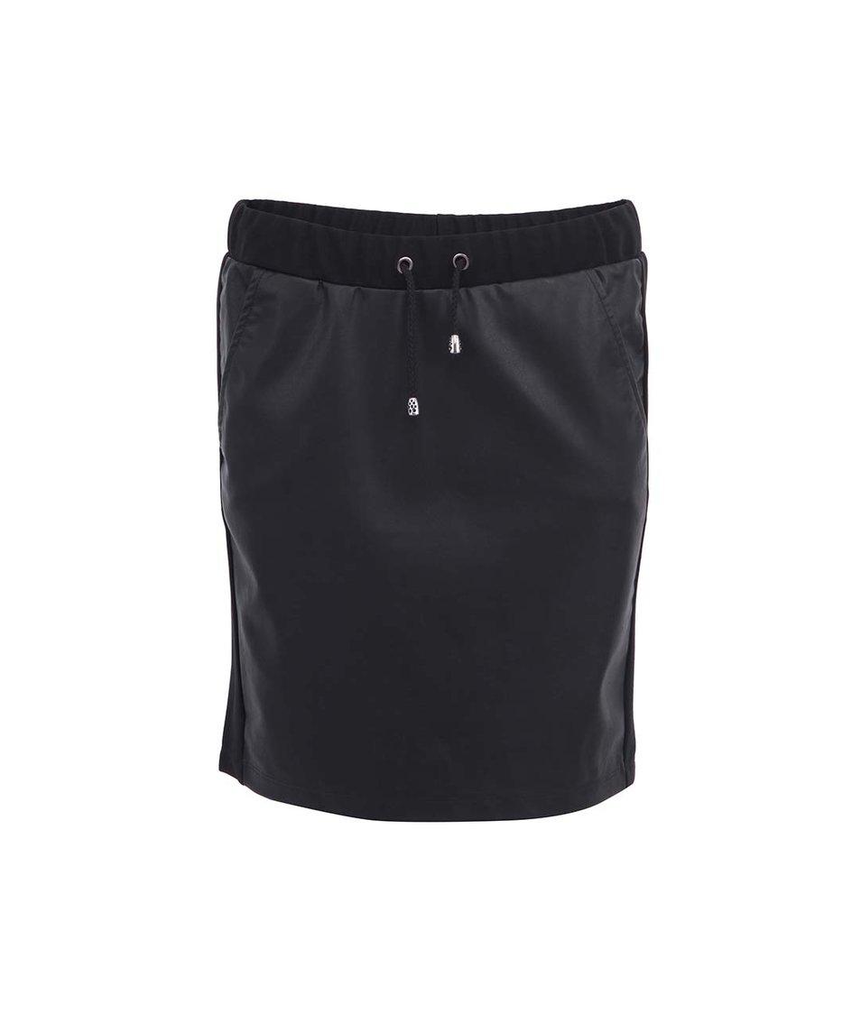 Černá koženková sukně s tkaničkami b.young Kaye