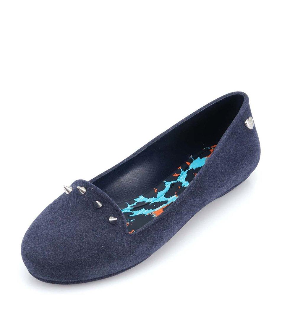 Tmavě modré loafers s ostny Mel Glow