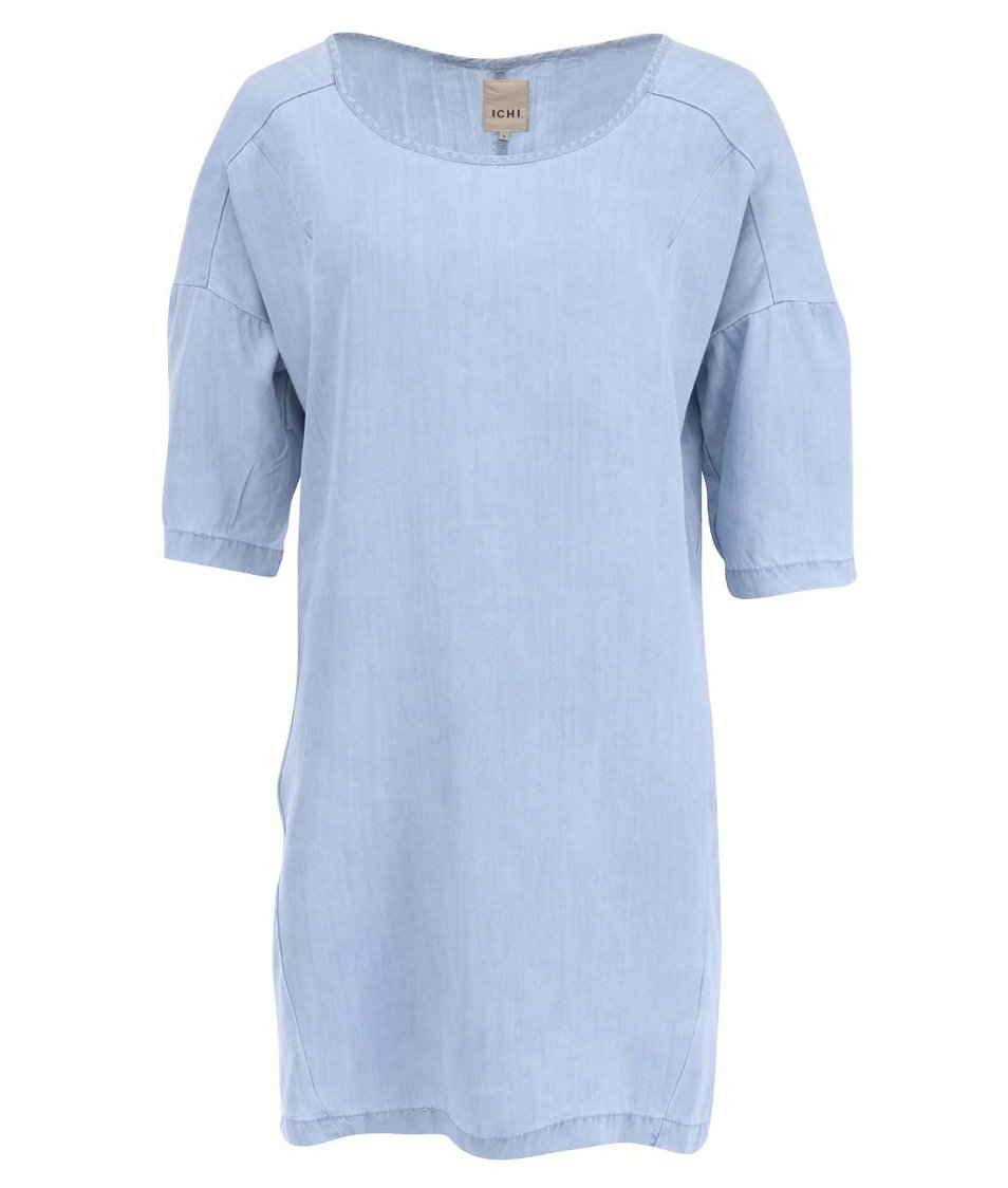 Světle modré volnější šaty ICHI Avona