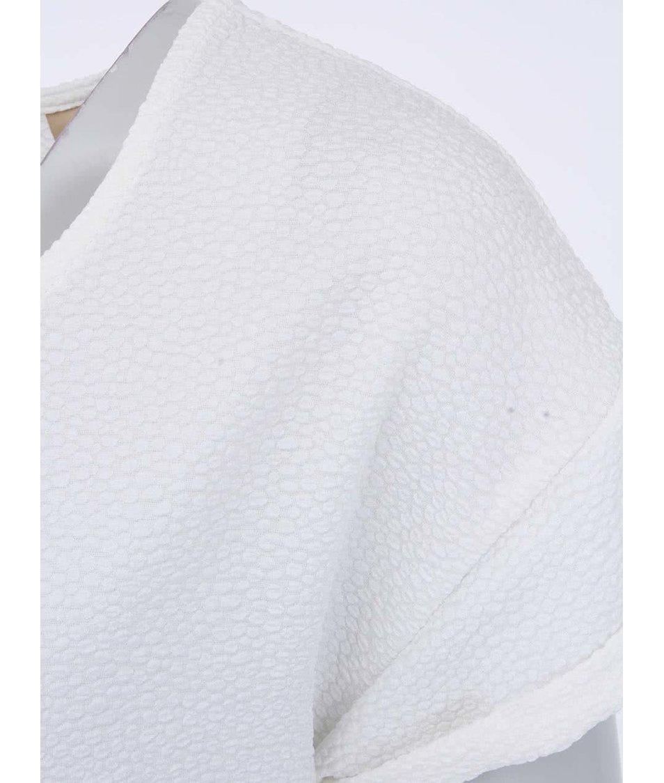 Krémový volnější top ICHI Biiz