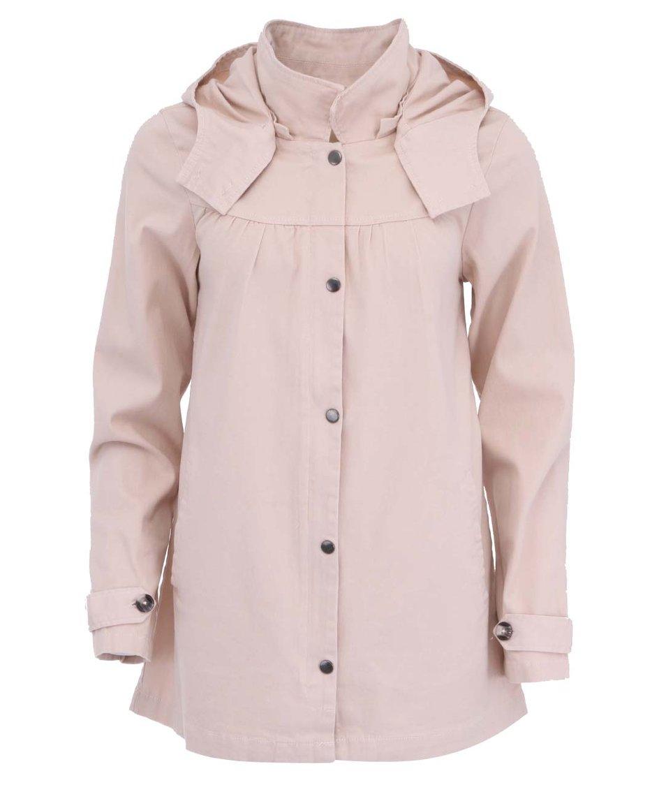 Růžový lehký kabát ICHI Theo