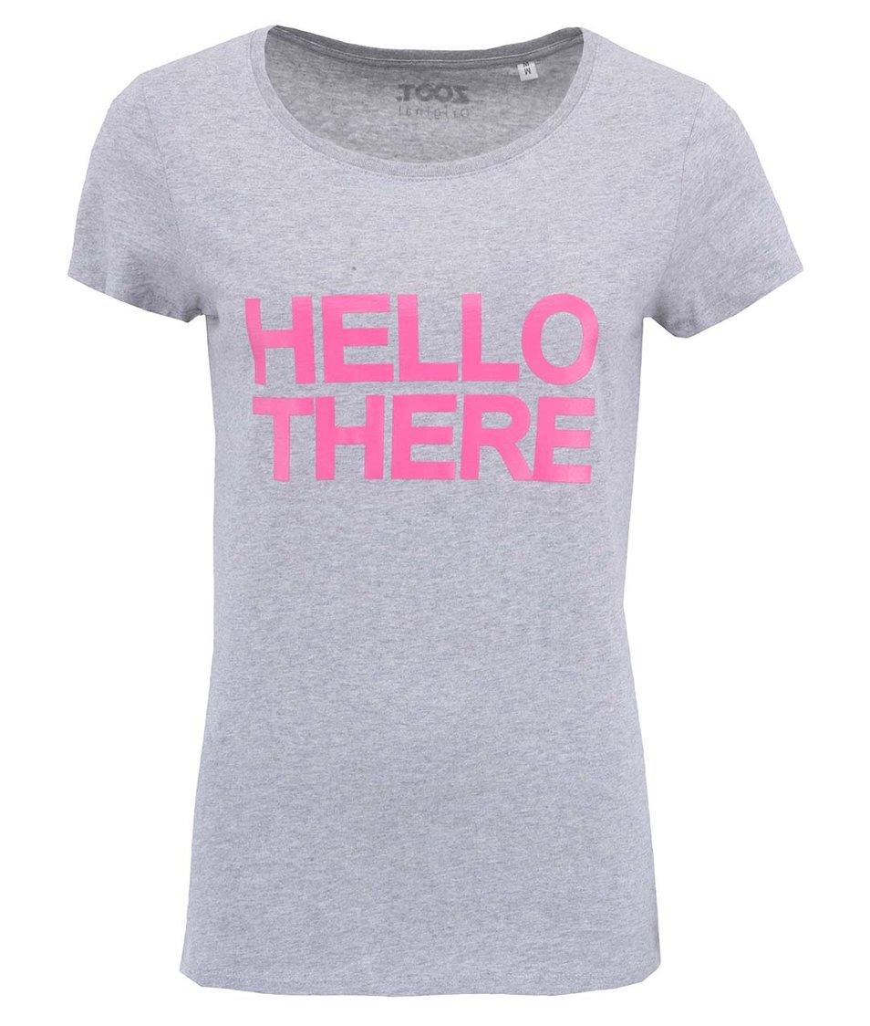 Šedé dámské tričko ZOOT Originál Hello There