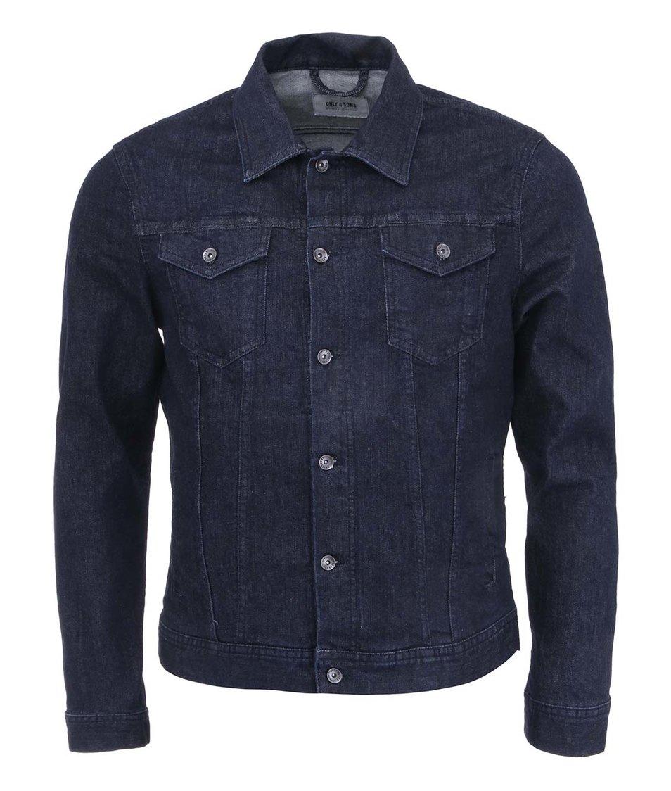 Tmavě modrá džínová bunda ONLY & SONS Risa