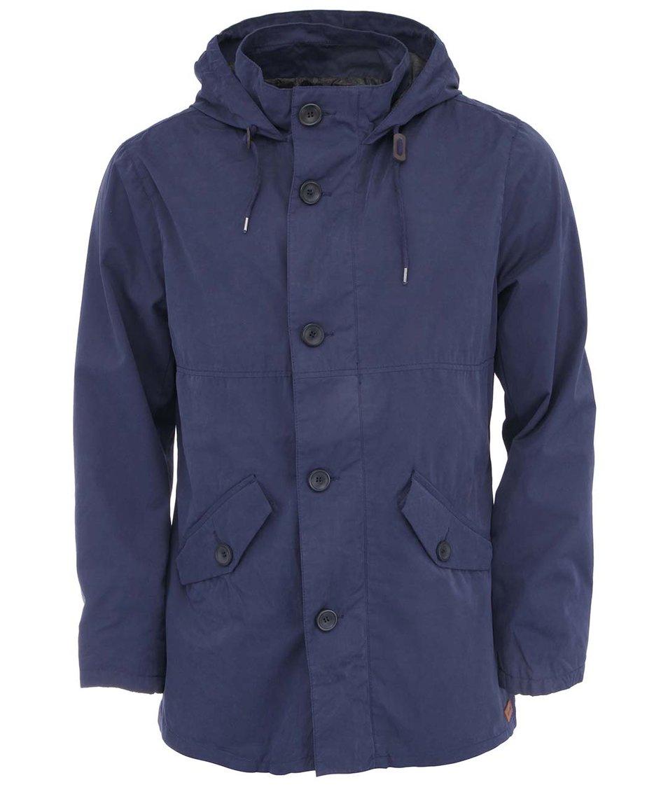 Tmavě modrý kabát s kapucí ONLY & SONS Jeeves