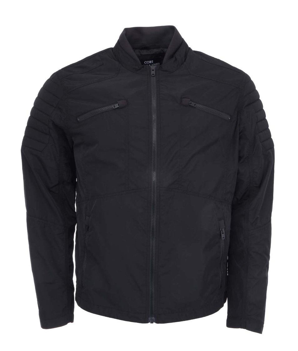 Černá bunda na zip Jack & Jones Helt