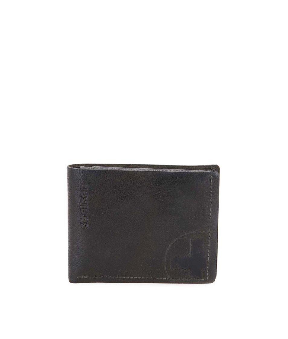 Tmavě zelená kožená peněženka Strellson Edwyn